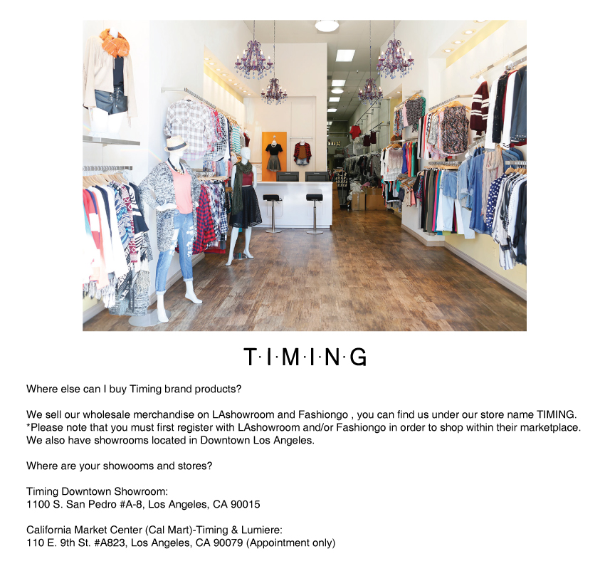 Timing-showroom